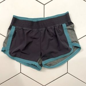 Grey and Blue Athletic Shorts